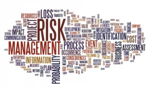Risk management concept in tag cloud
