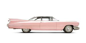 59 Cadillac Eldorado isolated on white.